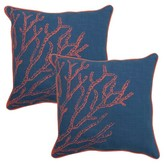 "Threshold 2-Piece 18"" Toss Pillow Set - Coral"