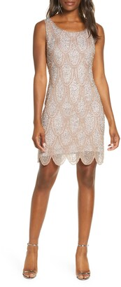 Pisarro Nights Beaded Cocktail Minidress