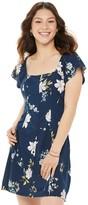 So Juniors' SO Square Neck Button Front Dress