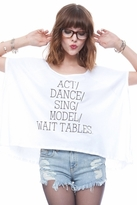 Local Celebrity Act Wait Tables Alexa Tee in White