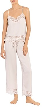 Jonquil Lace Trim Cami & Cropped Pants Pajama Set