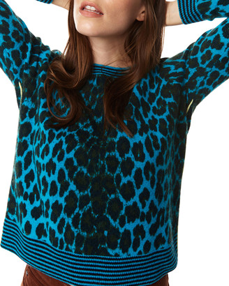 LISA TODD Spotted Cashmere Piped Sweater