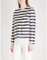 DELPOZO Striped linen-blend jacket