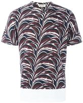 Marni plant print T-shirt - men - Cotton - 46