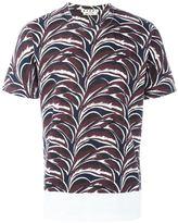 Marni plant print T-shirt - men - Cotton - 50