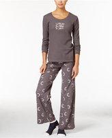 Hue Thermal Pajama Set with Socks