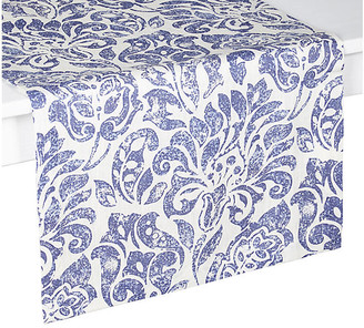 """Santorini Table Runner - Blue/White - Mode Living - 16""""L x 70""""W"""