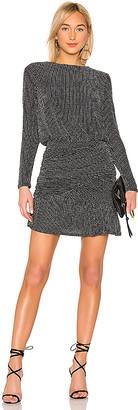 Krisa Drape Skirt Long Sleeve Mini Dress