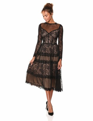 Tadashi Shoji Women's l/s All-Over lace Dress