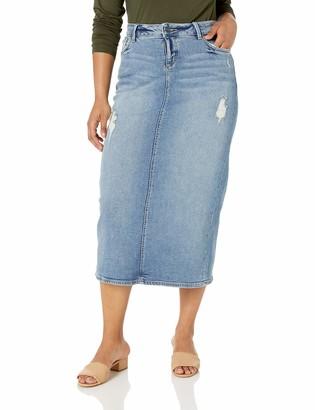 SLINK Jeans Women's Plus Size Jackie Long Denim Skirt 22