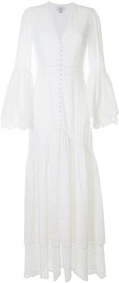 We Are Kindred Broderie Anglaise Buttoned Maxi-Dress