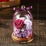ROSEONE Eternal Flower Gift Box/Glass Roses Ornaments/ Flowers/ Holiday Gift