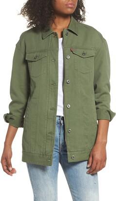 Levi's Oversized Long Cotton Trucker Jacket