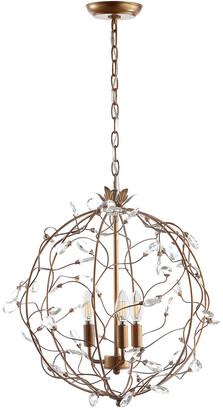 Jonathan Y Designs Isabelle 20In Adjustable Metal Glass Led Pendant