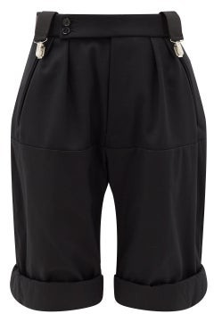Raf Simons Clip-waist Wool-twill Shorts - Black