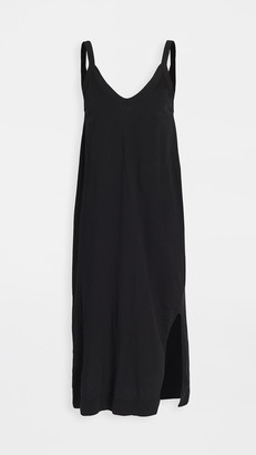 Bassike V Neck Jersey Slip Dress