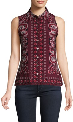Tommy Hilfiger Printed Sleeveless Shirt