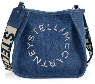 Stella McCartney Mini Stella Logo Denim Shoulder Bag