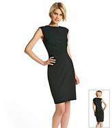 Tahari ASL® Crepe Sheath Dress with Side Buckle