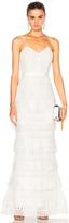 Self-Portrait Penelope Tiered Teardrop Lace Dress