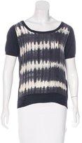 Sandro Short Sleeve Tie-Dye Print Top