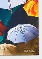 Men's Umbrella Photo-Print Silk Pocket Square