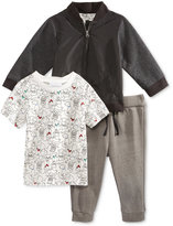 First Impressions 3-Pc. Baseball Jacket, T-Shirt & Pants Set, Baby Boys (0-24 months), Only at Macy's