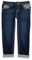 Imperial Star Girls 7-16 Embroidered Cuffed Jeans