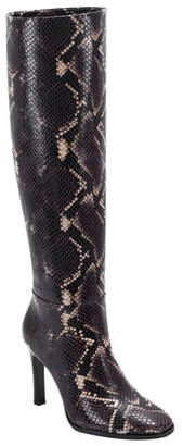 Sigerson Morrison Kailey Snakeskin Embossed Knee High Boot