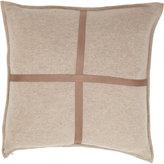 Arabella Rani Cross-Detailed Knit Throw Pillow