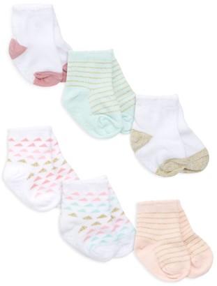 Aden Anais Baby's Everyday Crews 6-Piece Sock Set