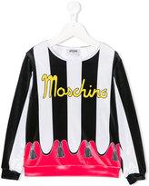 Moschino Kids curtain print top