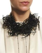 Brunello Cucinelli Beaded Seaweed Choker Necklace, Black