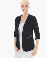 Chico's Textured Knit Modern Blazer