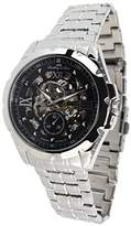 Lindberg & Sons SK14H026 - wrist watch for men - skeleton - automatic movement - analog display - stainless steel bracelet