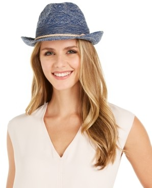 INC International Concepts Inc Packable Woven Fedora, Created for Macy's