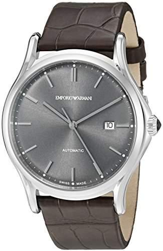 Emporio Armani Swiss Made Men's ARS3000 Analog Display Swiss Quartz Black Watch