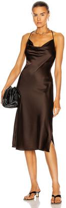 Andamane Delfini Midi Dress in Brown | FWRD