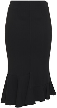 Victoria Beckham Fluted Stretch-crepe Pencil Skirt