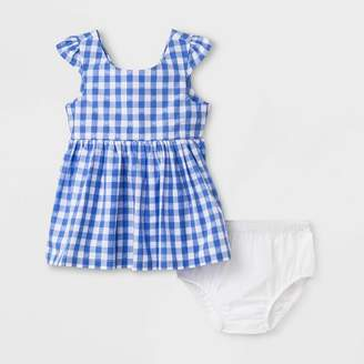 Cat & Jack Baby Girls' Gingham Dress Blue
