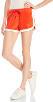 True Religion Orange Drawstring Velour Shorts