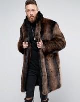 Asos Heavyweight Faux Fur Overcoat