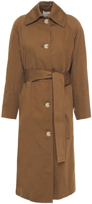 Vince Cotton And Linen-blend Twill Trench Coat