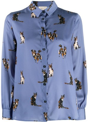 Altea Dog-Print Pointed Collar Shirt