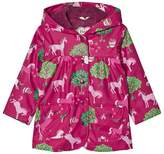 Hatley Pink Horse and Apple Print Lined Raincoat