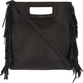 Maje The M leather cross-body bag