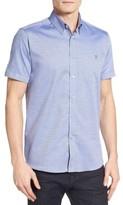 Ted Baker Men's Wooey Mini Texture Sport Shirt