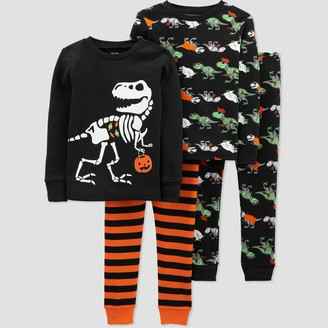 Just One You Made By Carter's Toddler Boys' 4pc Halloween Pajama Set - Just One You® made by carter's Orange/Black