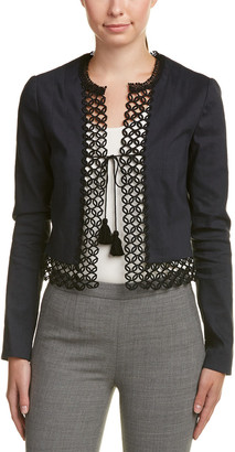 Elie Tahari Linen-Blend Jacket