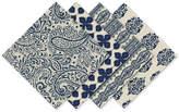 Elrene Assorted Blue Print Cotton Napkins, Set of 4